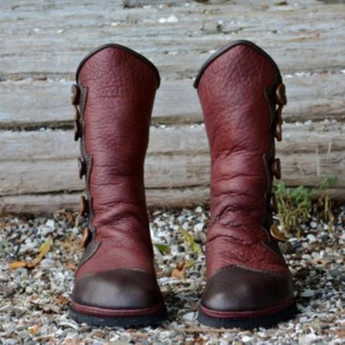 Renaissance Boots Leather Women's Vintage Boots