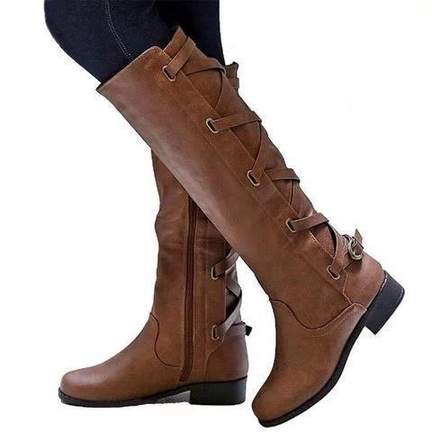 PU Chunky Heel Zipper Casual Winter Women Boots