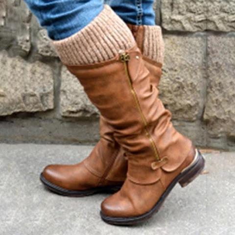 *Women's Flat Heel Casual Winter Boots