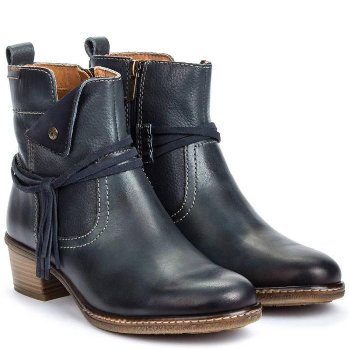Vintage Zipper Faux Leather Women's Boots