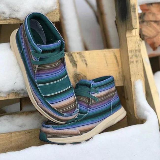 Flat Heel Lacing Boots
