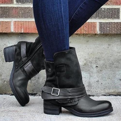 Block Heel Winter Seaside Boots