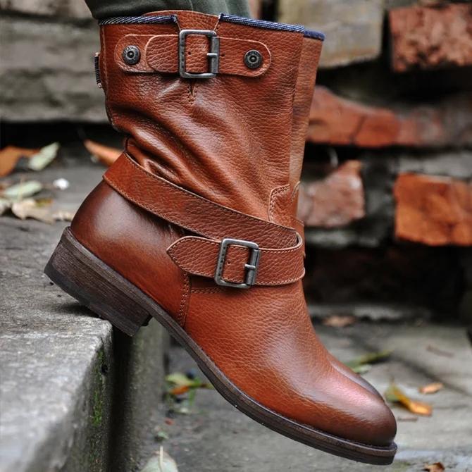Block Heel Daily Boots