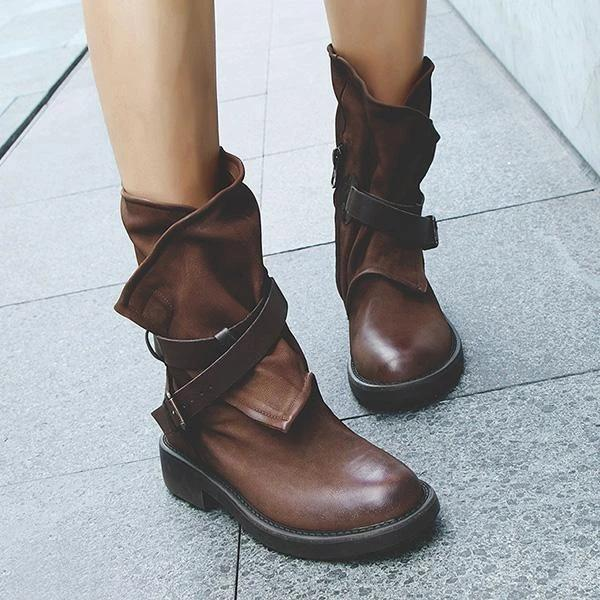 Vintage Buckle Boots