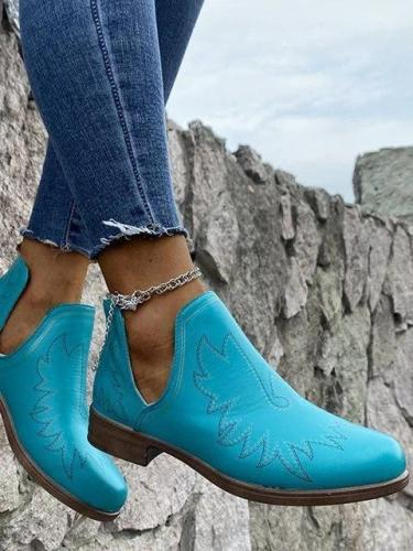 Low Heel Casual Boots