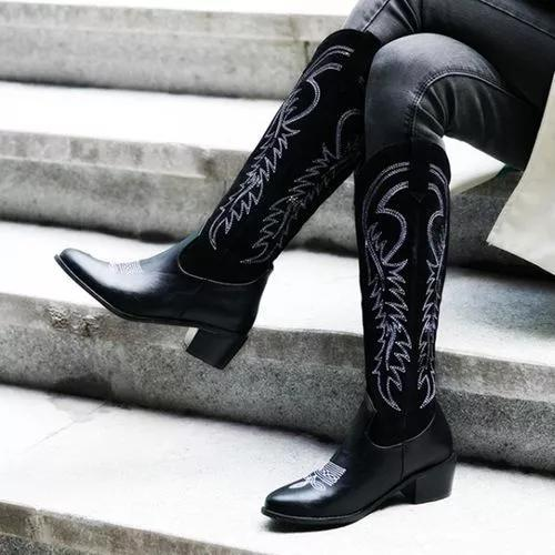 Women's Flower Knee High Boots
