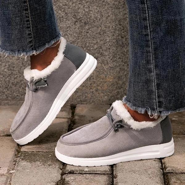 Women Comfy Flat Heel Slip-On Boots
