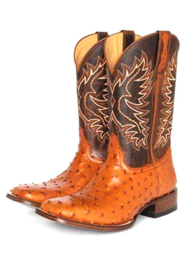 Women Large Size Slip-On Ethnic Pattern Dot Mid-calf Cowboy Boots