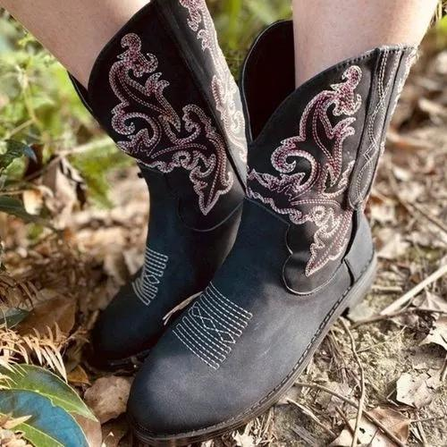 Women's Flower Ankle Boots