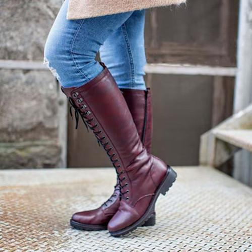 Closed Toe Vintage Winter Boots