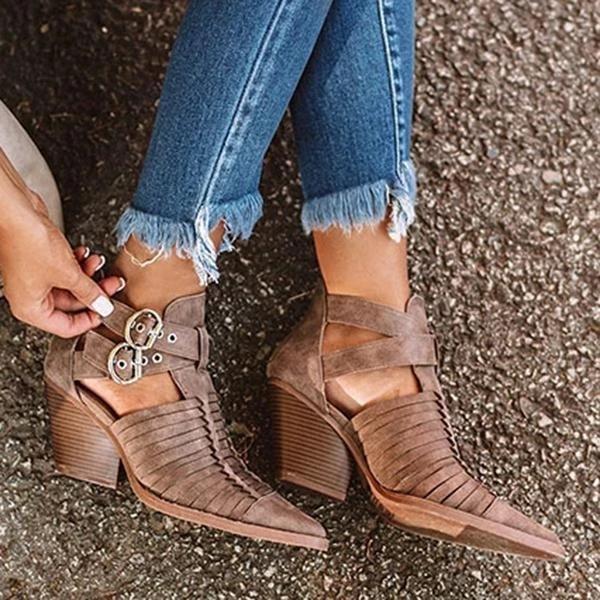 Street Fashion Chunky Boots