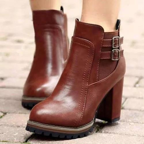 Women's Buckle Ankle Boots