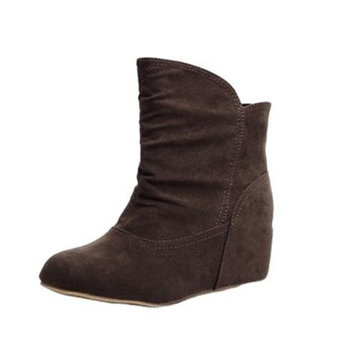 Suede Flat Heel Boots