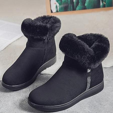 Low Heel Winter Pu Boots