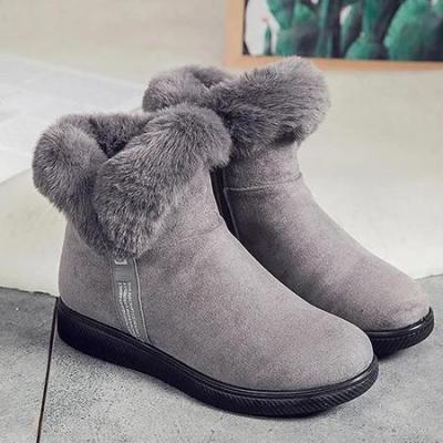 Low Heel Winter Pu Boots