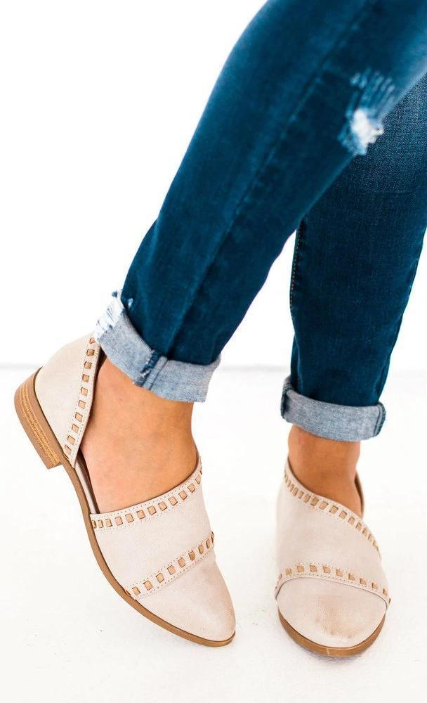 Osmond Stitch Detailed Flats Shoes
