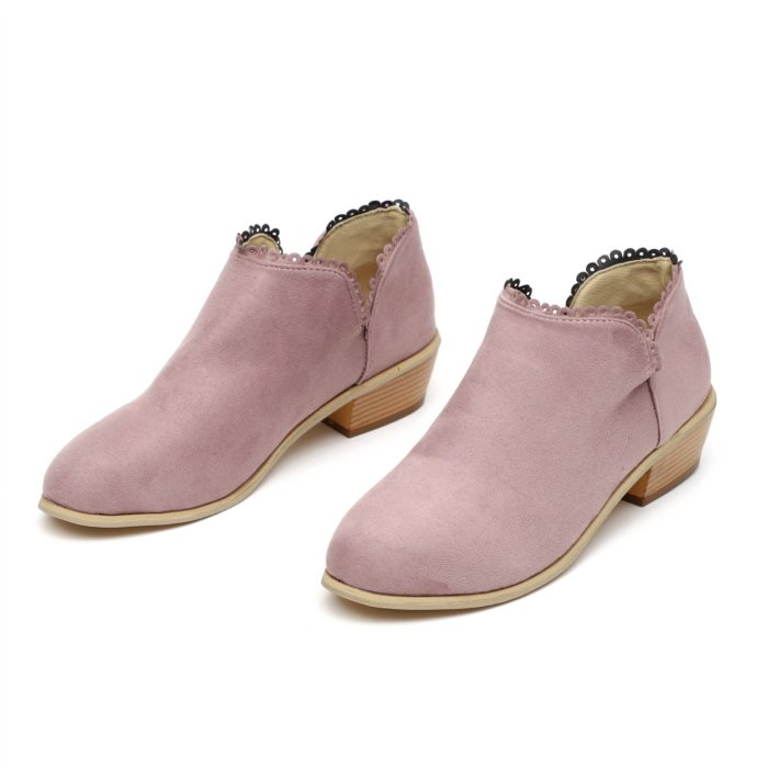 Women's Daily Comfortable Suede Chunky Heel Boots