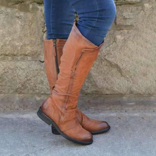 Women's Vintage Comfy Knee-High Boot