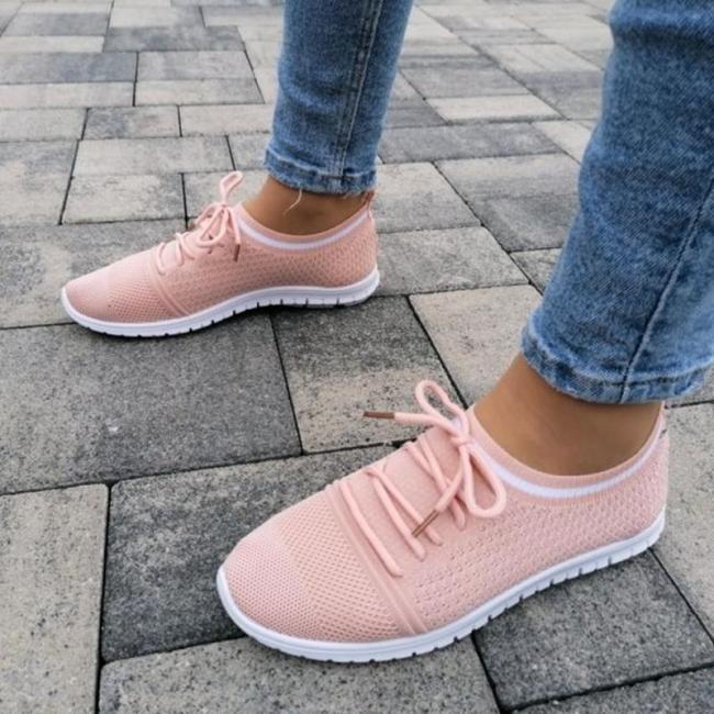Pink Mesh Sneakers
