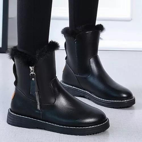 Women's Zipper Mid-Calf Boots