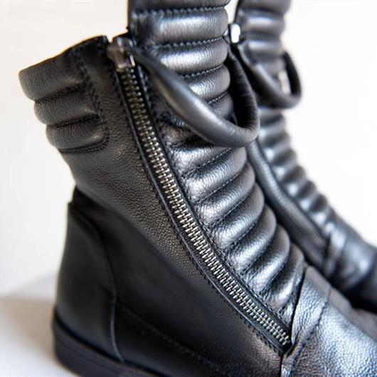 Casual Flat Heel Boots