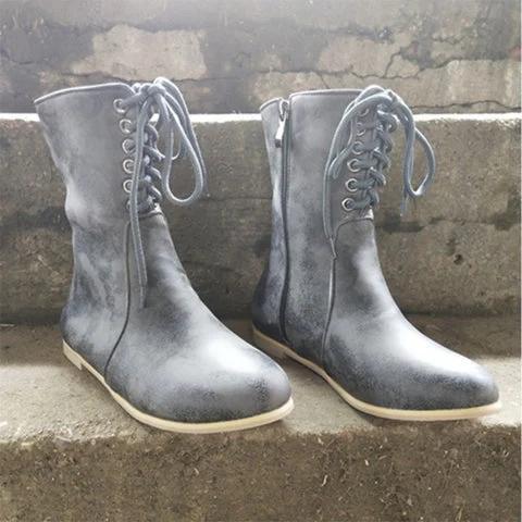 Round head short boots