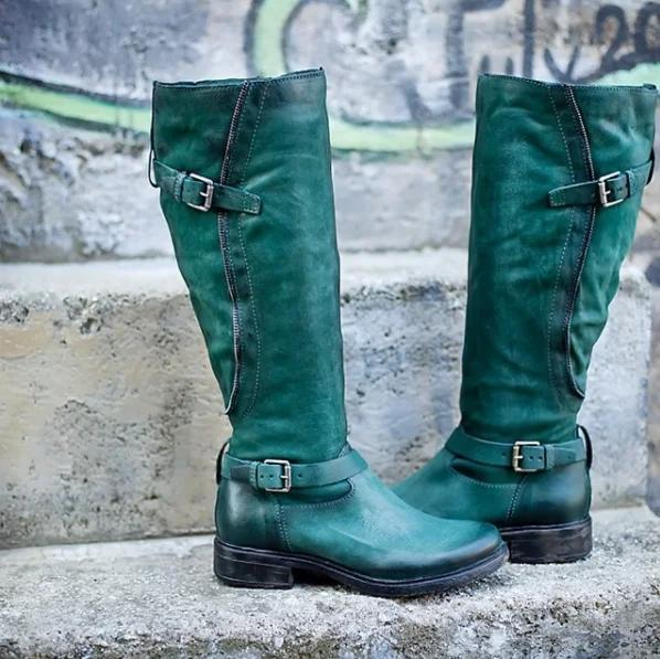 Artificial Leather Buckle Winter Boots