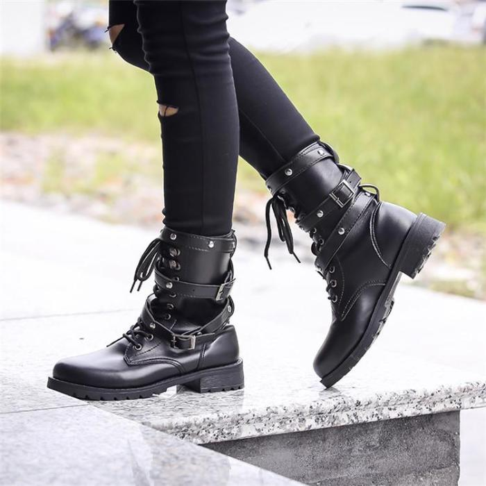 Lace Martin Boots