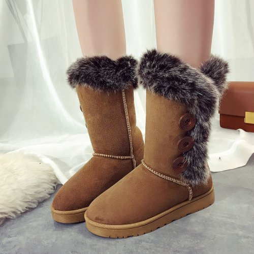 *Women Winter Fur Mid-Calf Boots