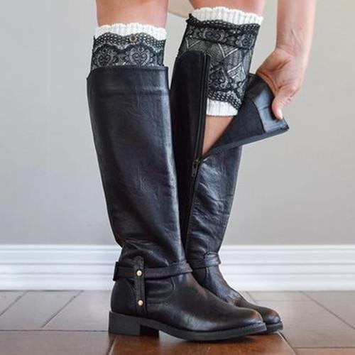 Side Zipper Pu Boots