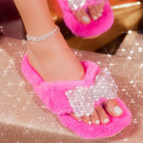 All-Around Multi Faux-Fur Sandal