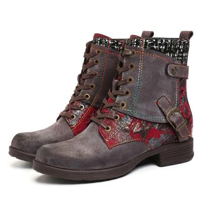 Round Toe Lacing Snow Boots