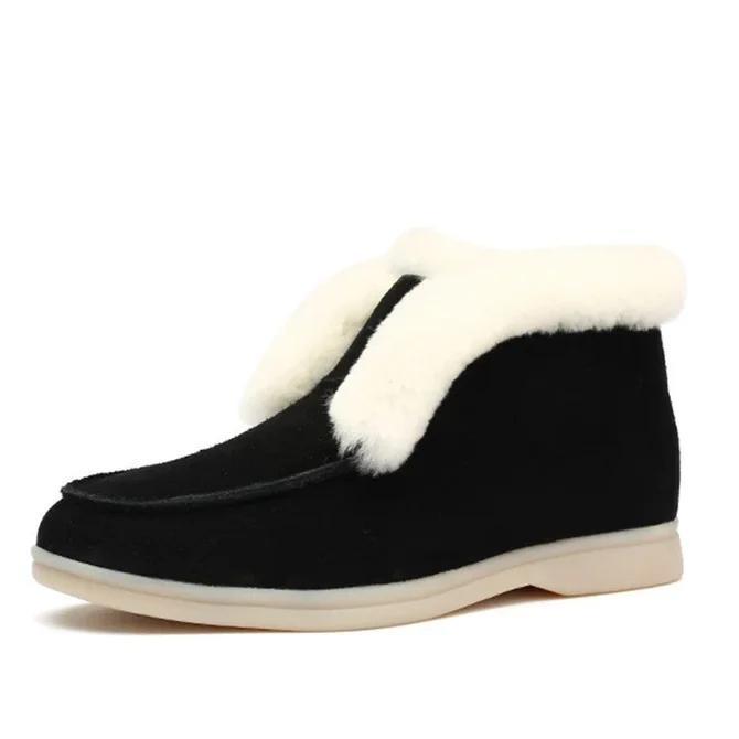 Flat Heel Winter Boots