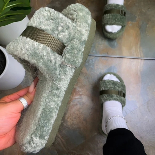 Adjustable Strap On Slippers