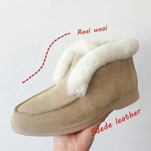 Flat Heel Winter Boots