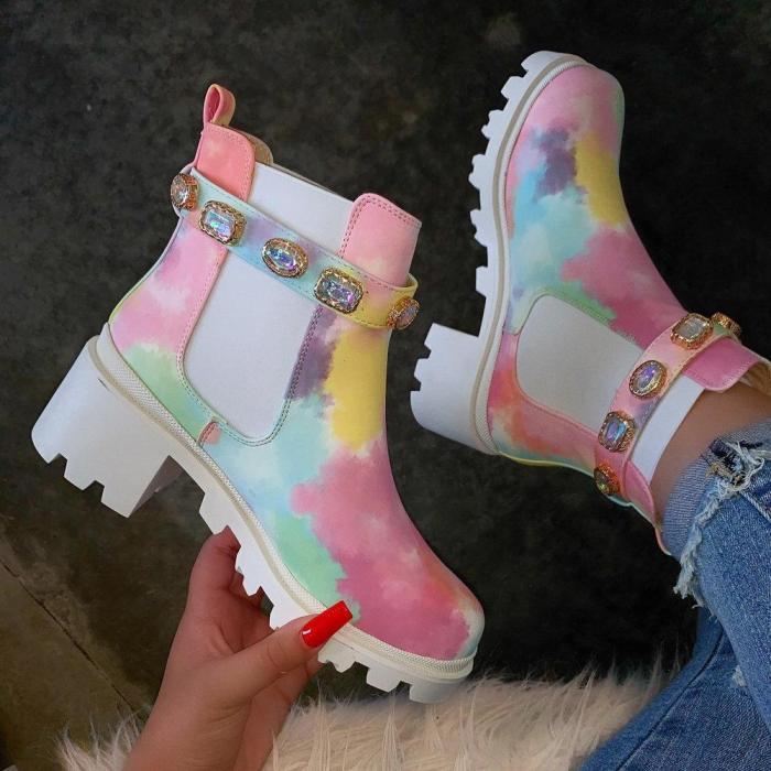 Very G Slip-On Tie Dye Boot
