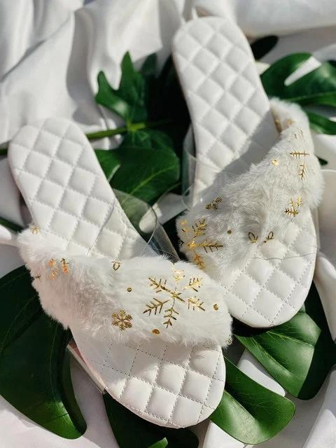 Flat Heel Holiday Slippers