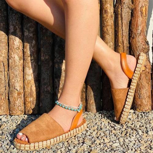 Ladies Casual Suede Flat Sandals
