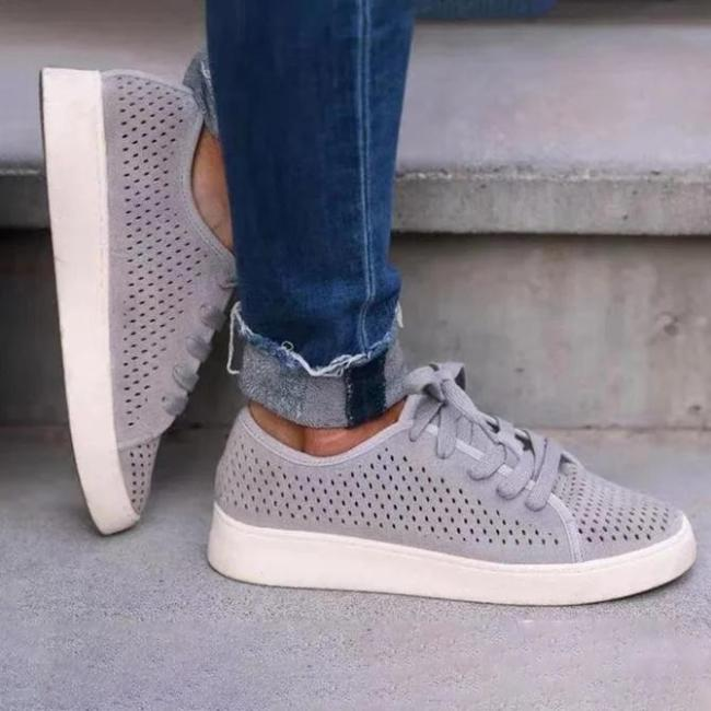 Casual Flat Heel All Season Hollow-Out Sneakers