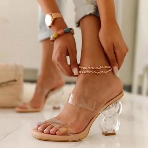 Slip On Block Heel Sandals