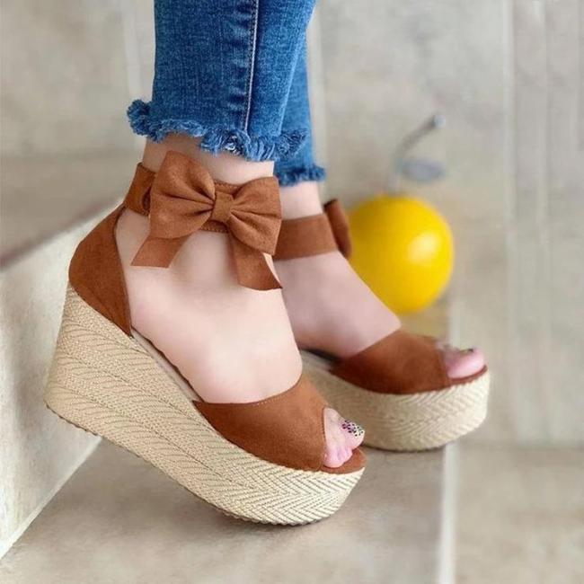 Women's Fashion Buckle Wedge Sandals