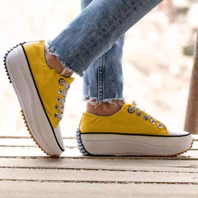 Women's Lace-up Flats Flat Heel Sneakers