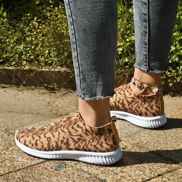 Women's Fashionable Leopard Print Sneakers