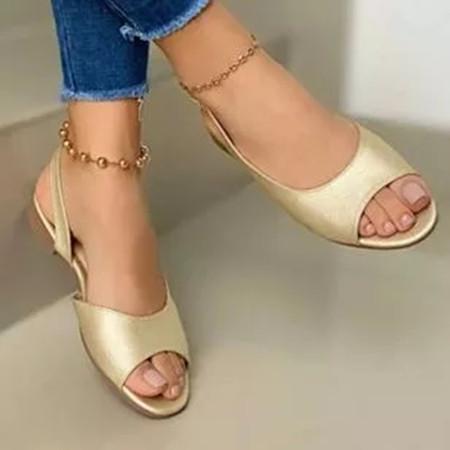 Women's Round Toe Flat Heel Sandals