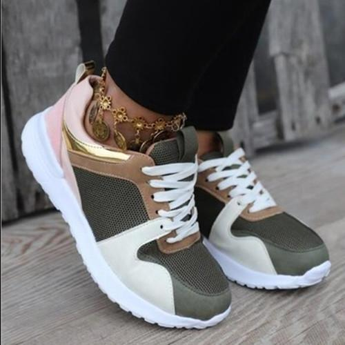 Women Athletic  Lace Up Non-slip  Sneakers