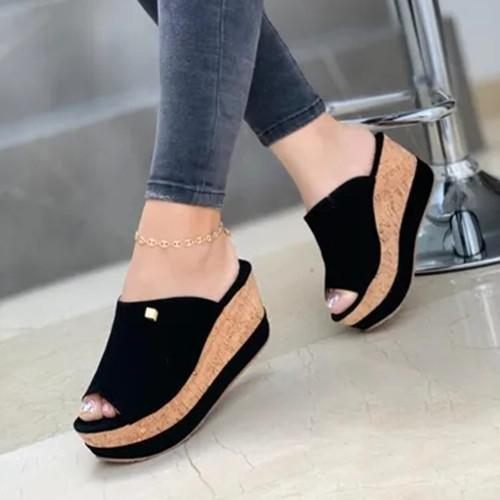Peop Toe Wedge Sandals