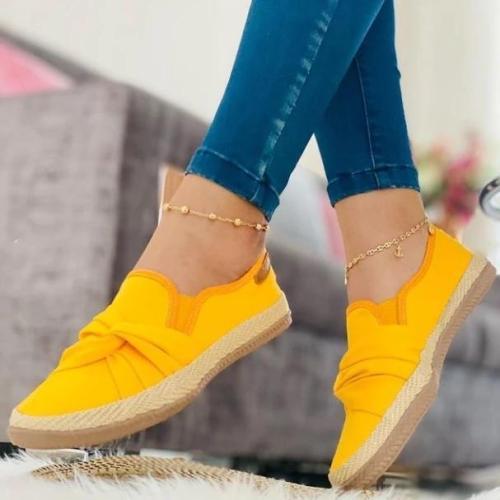 Flat Heel Suede Loafers