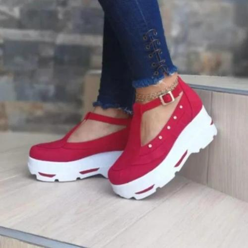 Fashion Antiskid Wedge Heel Suede Shoes