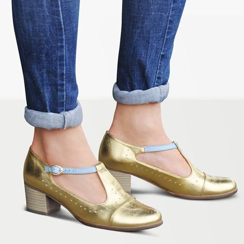 Gold Mary Jane Sandals