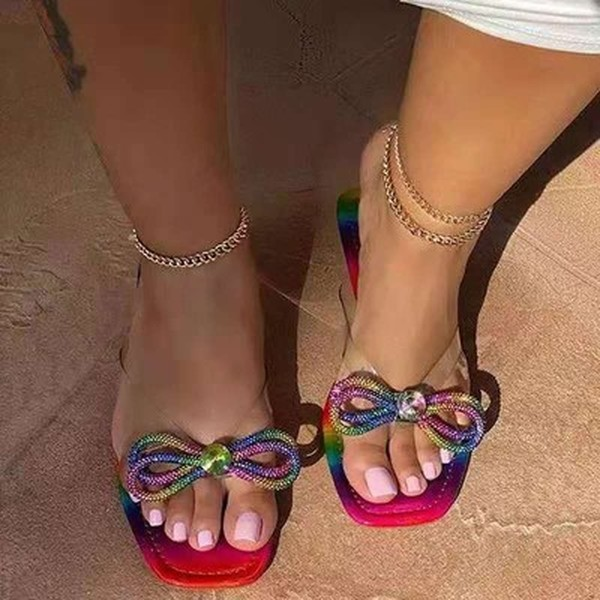 Bow Colorful Sandals